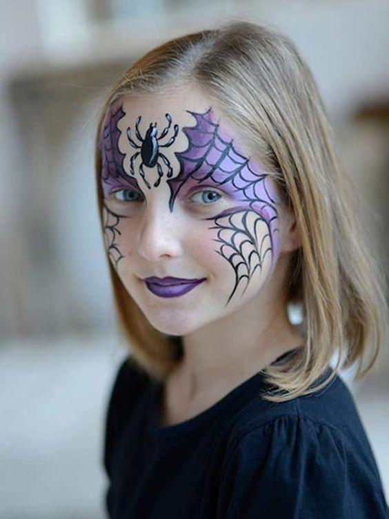15 id es de maquillages pour halloween koifaire - Toile d araignee maquillage ...