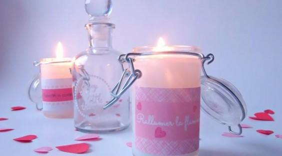 bougies diy