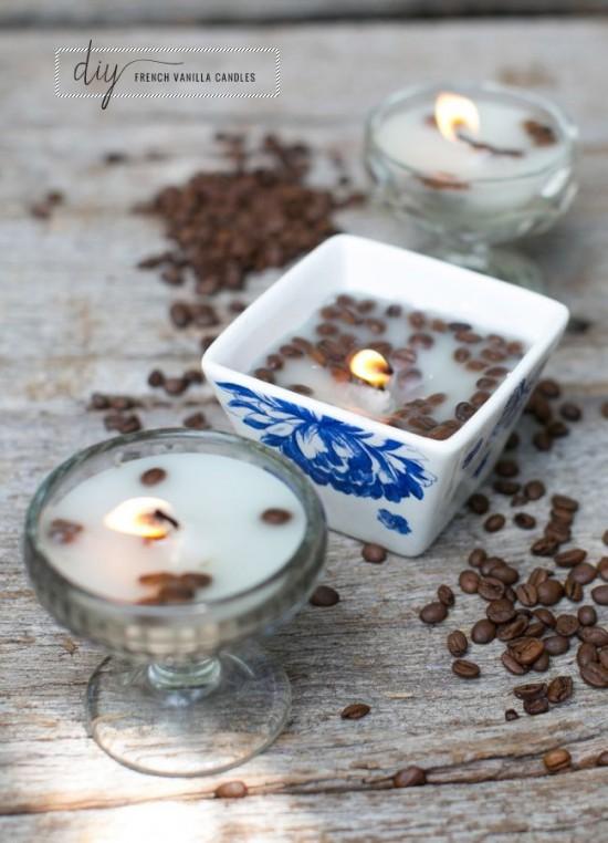 bougies café vanille
