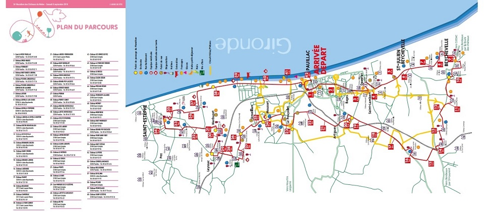 plan marathon médoc