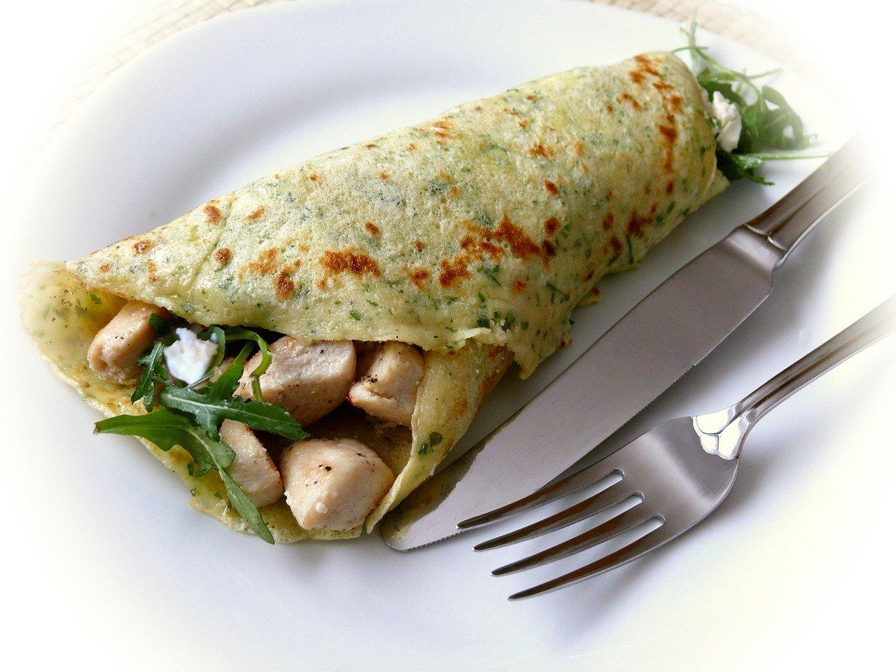 crêpe vegan salée