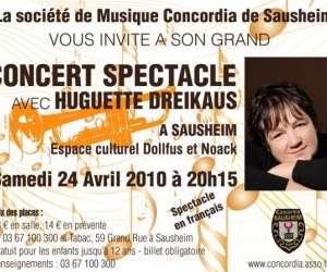 Concert spectacle avec huguette dreikaus