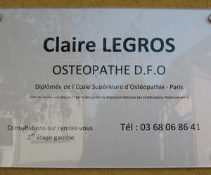 Claire  legros   osteopathe