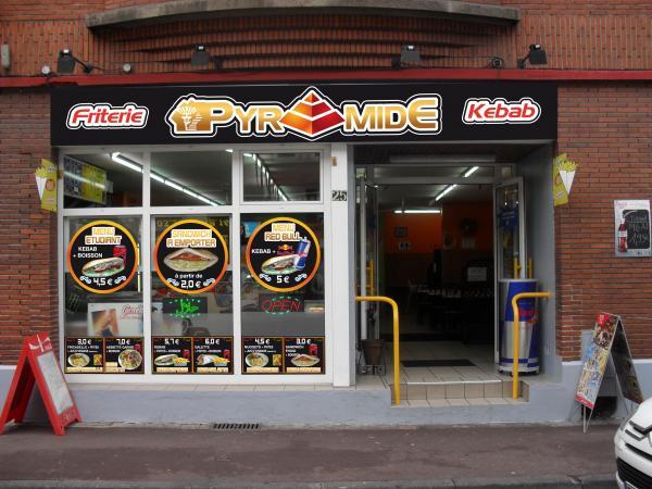 La pyramide kebab frites livraison domicile for Horaire kreabel tourcoing