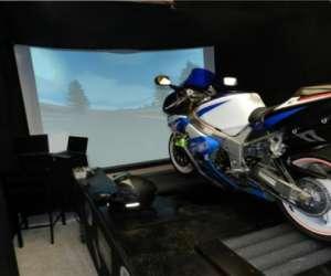 Simulateur de roulage moto