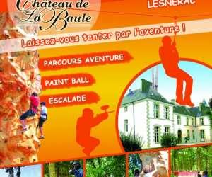 Château de la baule: parcours aventure, paint ball, esc