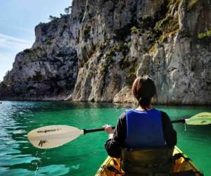 Kayak cassis calanques immersion