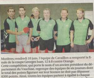 cavaillon tennis de table