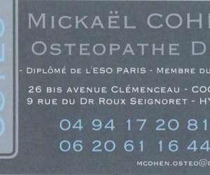 Mickaël cohen ostéopathe d.o.