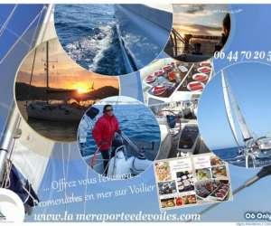 La mer à portée de voiles  -  excursions en mer