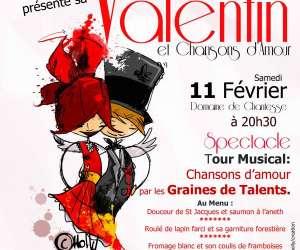St valentin et chansons d'amour repas spectacle