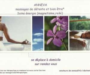 Anneva : reiki magnetisme massage de bien etre
