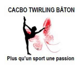 Twirling baton carbon-blanc