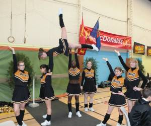 Cheerleading golden panthers pour les conquérants de ca