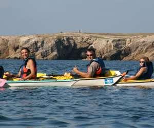 Sillages kayak de mer quiberon