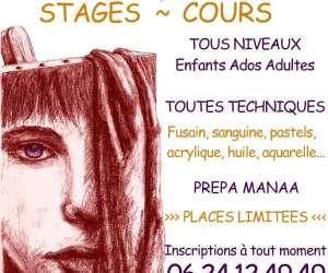 Cours stages dessin peinture