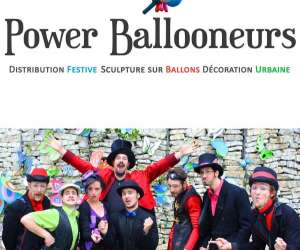 Power ballooneurs - sculpture sur ballons