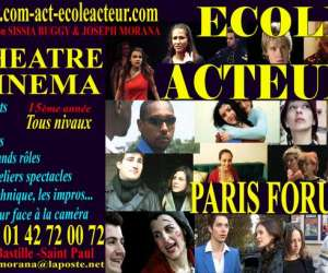 Ecole acteur paris forum du marais