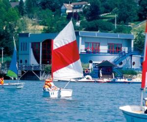 Barque sur le plan d