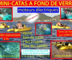 Caraibescalade - catamarans electriques a fonds de verr