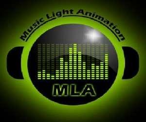 Music light animation