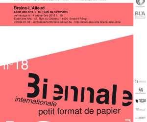 """18ème biennale internatione """"petit format de papier"""""""