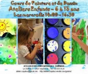 Atelier coquibus    cours de dessin et de peinture