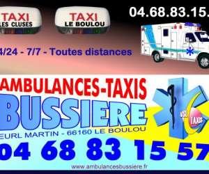 Ambulances taxi bussière