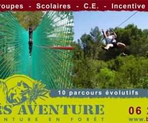 Béziers aventure parcours acrobatique en forêt