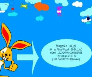Magasin joupi spécialisé en jeux et jouets