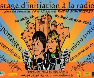 Stage initiation à la radio pour les jeunes de 10 à 15