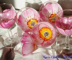 Wincenty catherine - peinture sur verre
