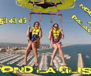 A fond la glisse - parachute ascensionnel et  fly board