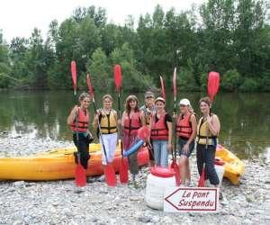 Canoe 34 : canoe du pont suspendu à saint bauzille de p