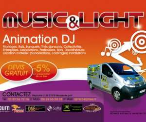 Music et light animation dj 54
